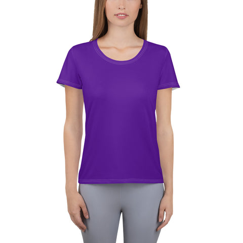All-Over Print Women's Athletic T-shirt Medium Purple.
