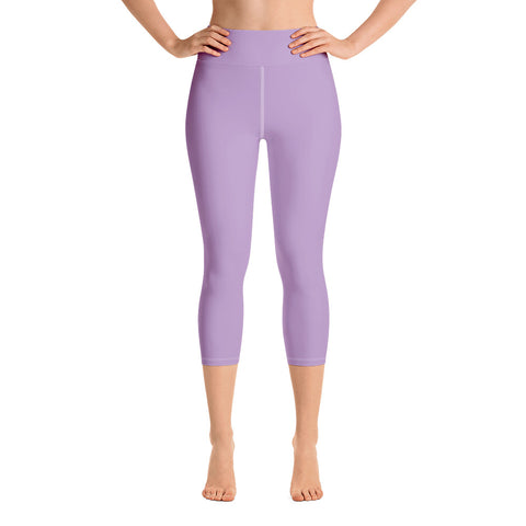 Yoga Capri Leggings Light Violet.