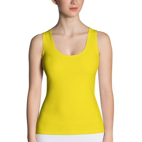 Sublimation Cut & Sew Tank Top Yellow,