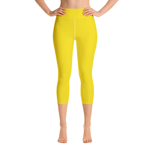 Yoga Capri Leggings Yellow.