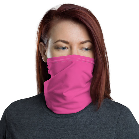 Neck Gaiter Bright Pink.