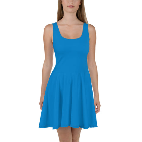 Skater Dress Medium Blue.