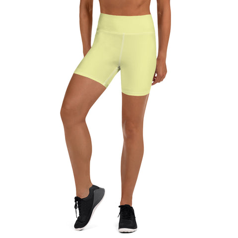 Yoga Shorts Light Yellow.
