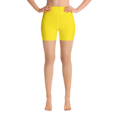 Yoga Shorts Bright Yellow.