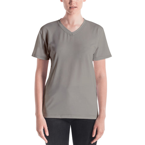 Women's V-neck  Medium Gray.