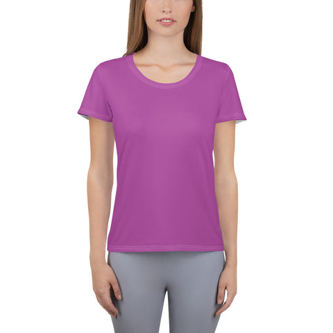 All-Over Print Women's Athletic T-shirt Purple.