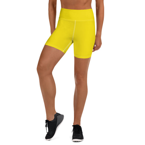 Yoga Shorts Yellow.