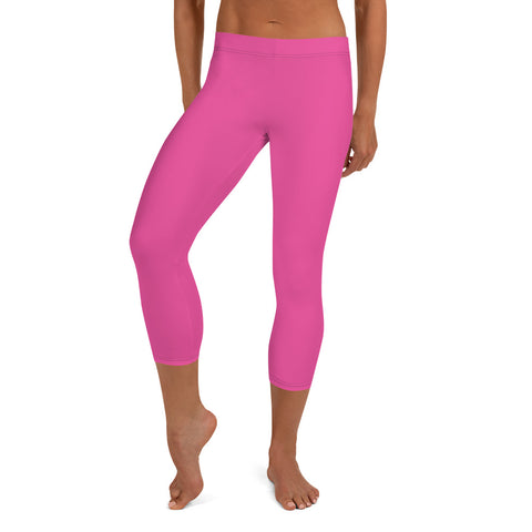 Capri Leggings Bright pink.