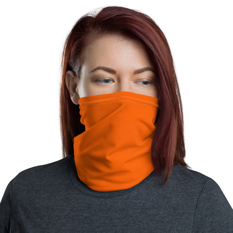 Neck Gaiter Bright Orange.