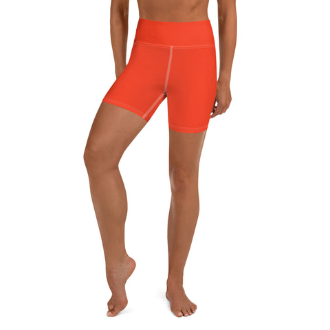 Yoga Shorts Bright Red.