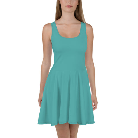 Skater Dress Turquoise Blue.