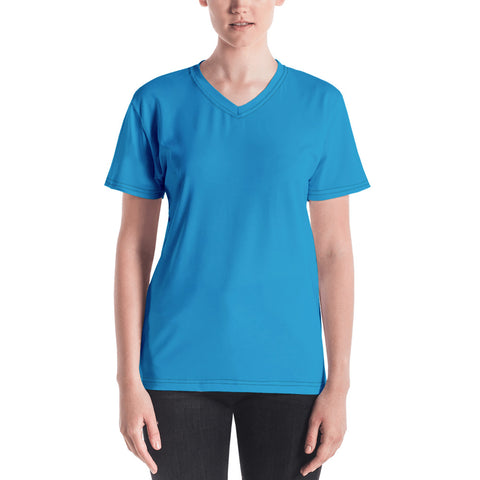 Women's V-neck Cloud Blue.