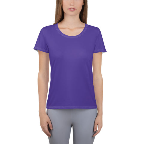 All-Over Print Women's Athletic T-shirt Violet.