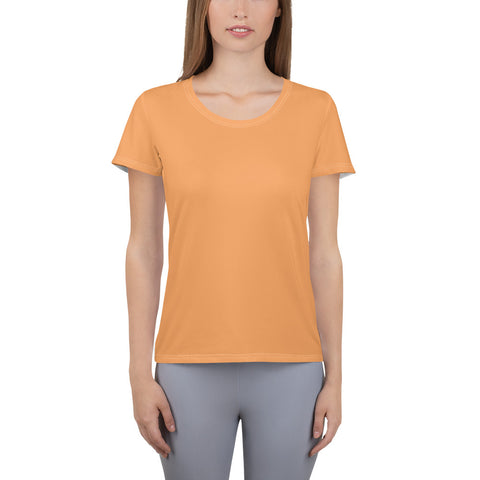 All-Over Print Women's Athletic T-shirt Tangerine.