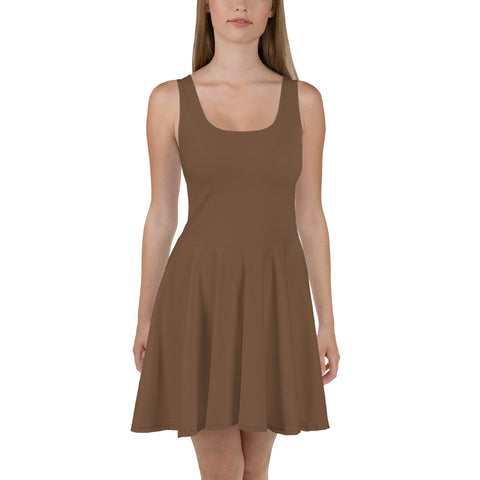 Skater Dress Toffee Brown