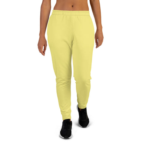 Women's Joggers Lemon Yellow.
