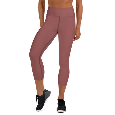 Yoga Capri Leggings Marsala Brown.