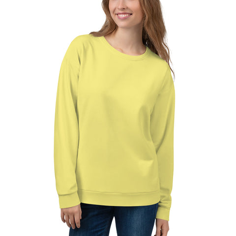 Unisex Sweatshirt Lemon Yellow.