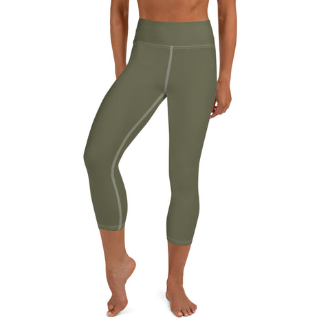 Yoga Capri Leggings Terra Green.