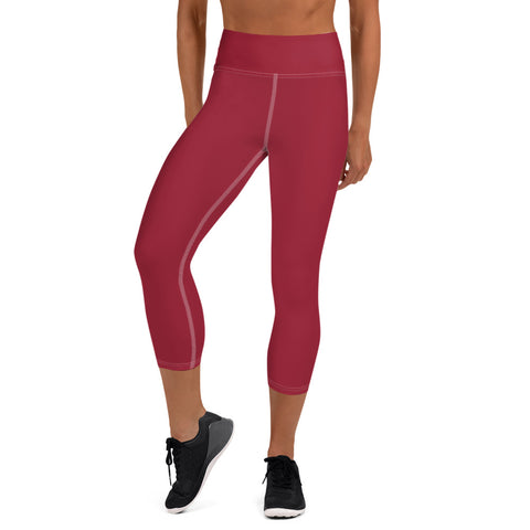 Yoga Capri Leggings Chili Red.