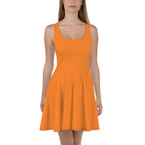 Skater Dress Turmeric Orange.