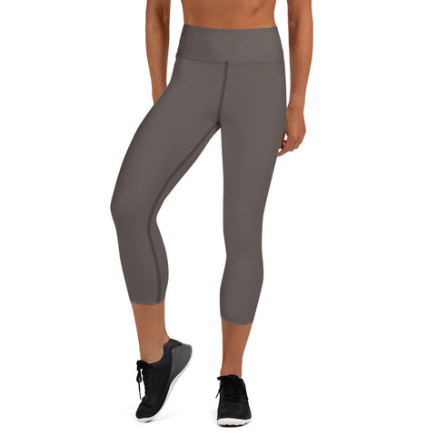 Yoga Capri Leggings Granite Brown.