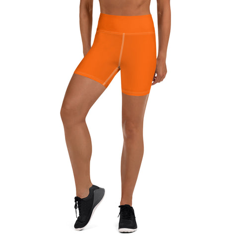 Yoga Shorts Bright Orange.
