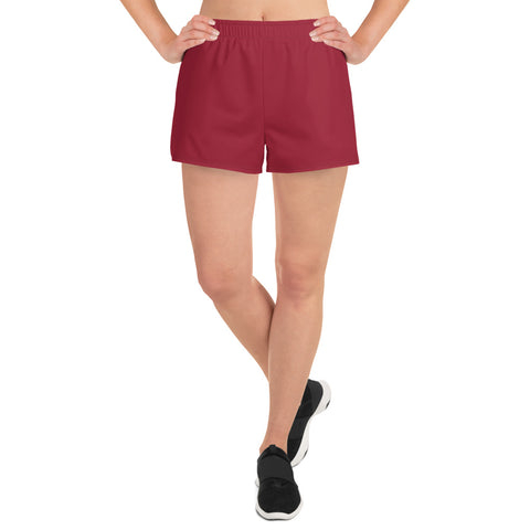 Women's Athletic Short Shorts Chili Red.
