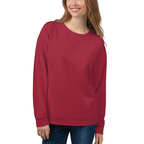 Unisex Sweatshirt Chili Red.