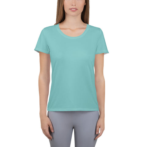 All-Over Print Women's Athletic T-shirt Aqua.