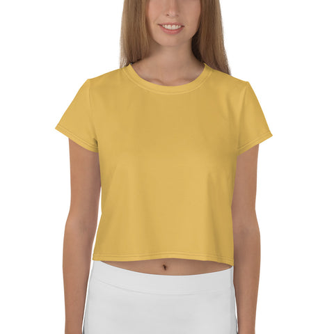 All-Over Print Crop Tee Mimosa Yellow.