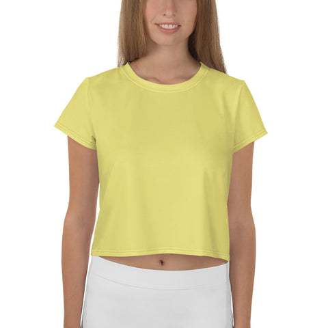 All-Over Print Crop Tee Lemon Yellow.