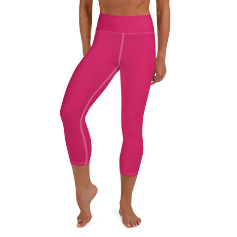 Yoga Capri Leggings Rubin Red.