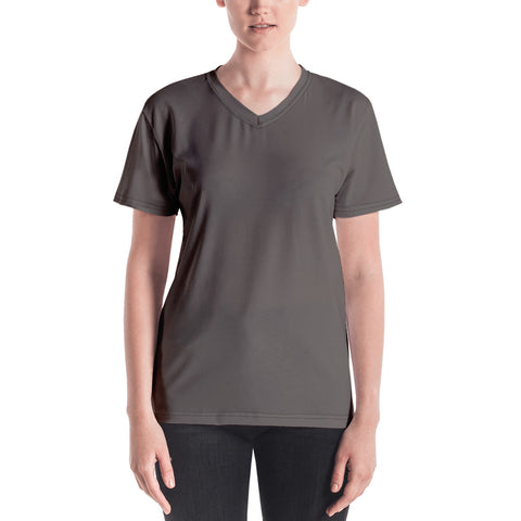 Women's V-neck Granite Brown.