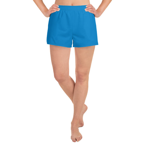 Women's Athletic Short Shorts Medium Blue.