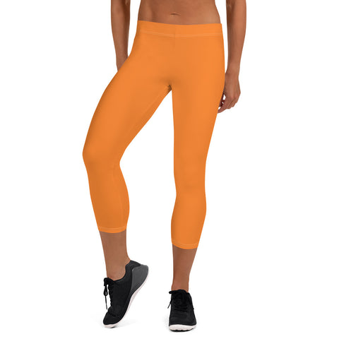 Capri Leggings Turmeric Orange.