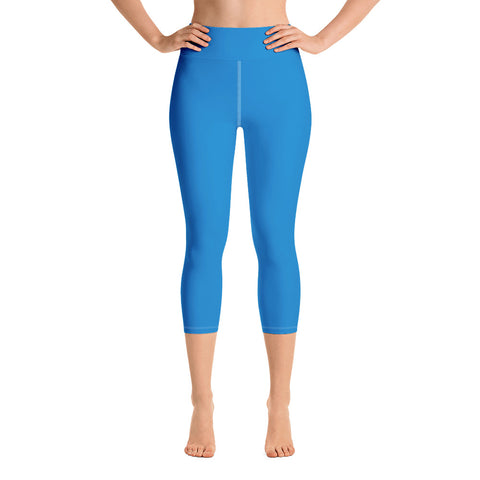 Yoga Capri Leggings Medium Blue.