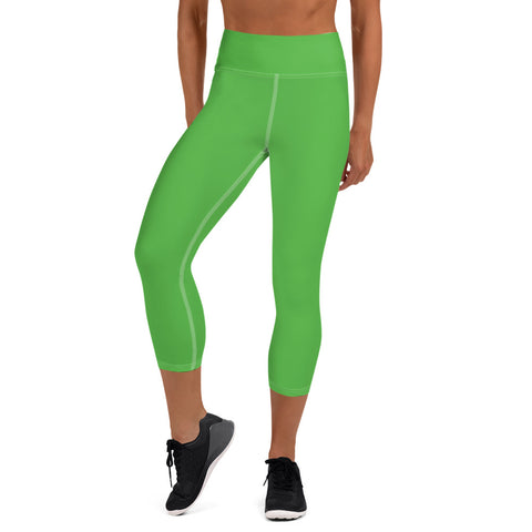 Yoga Capri Leggings Intense Green.