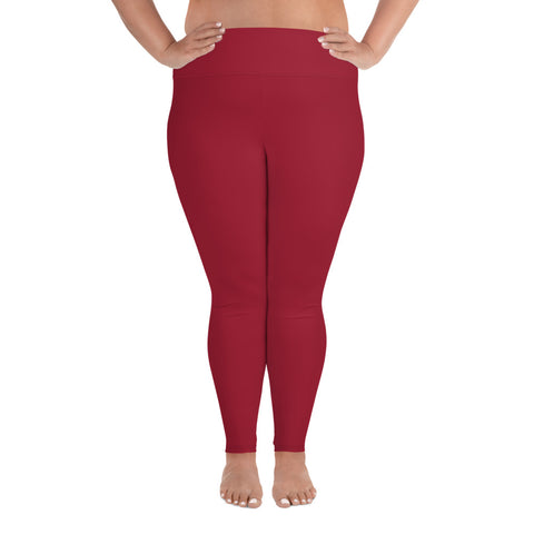 All-Over Print Plus Size Leggings Chili Red