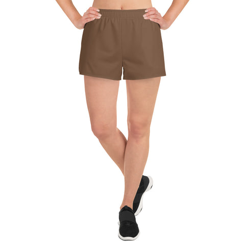 Women's Athletic Short Shorts Toffee Brown.