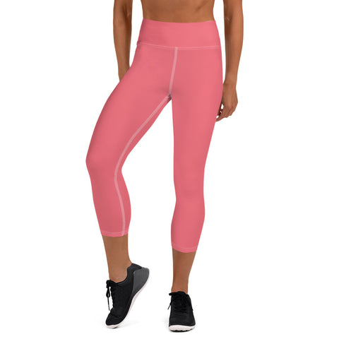 Yoga Capri Leggings Fresh Pink.