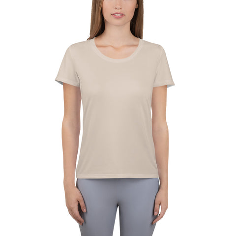 All-Over Print Women's Athletic T-shirt Sand.