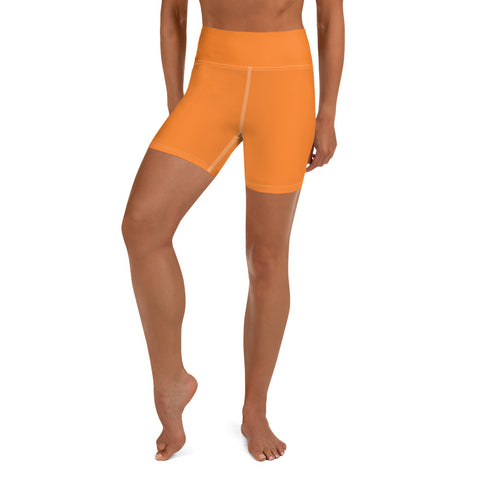 Yoga Shorts Turmeric Orange.