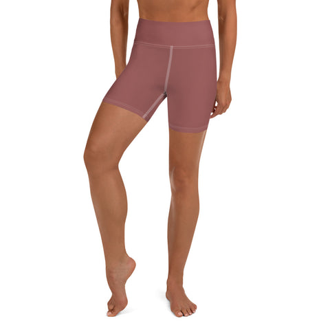 Yoga Shorts Marsala Brown.