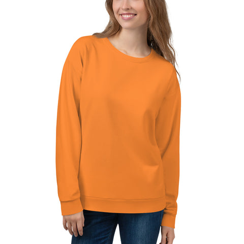 Unisex Sweatshirt Turmeric Orange.