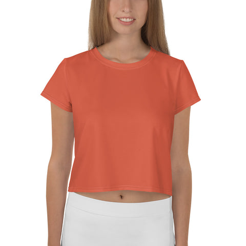 All-Over Print Crop Tee Lilly Orange.