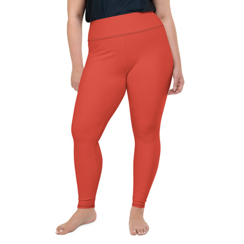 All-Over Print Plus Size Leggings Fiesta Red