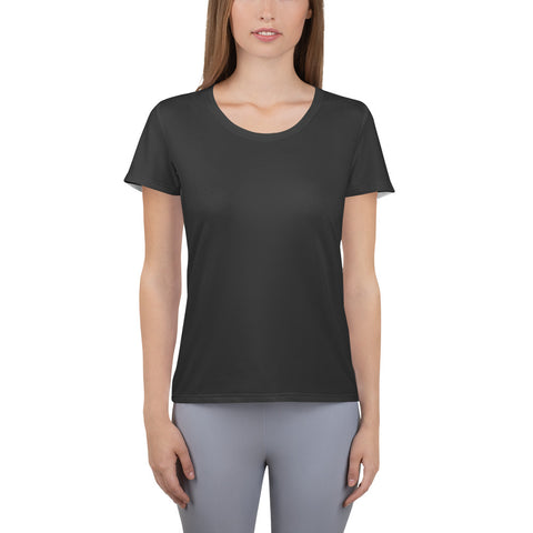 All-Over Print Women's Athletic T-shirt Neutral Black.