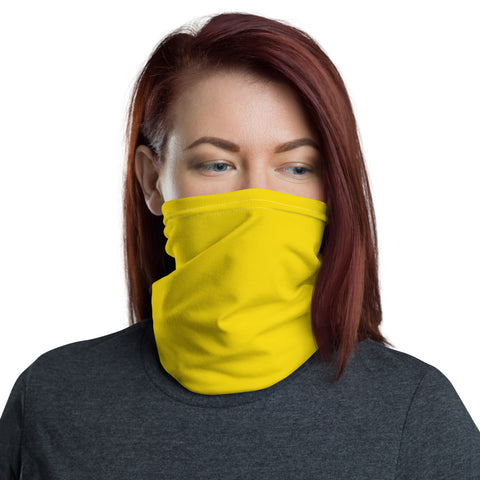Neck Gaiter Medium Yellow.