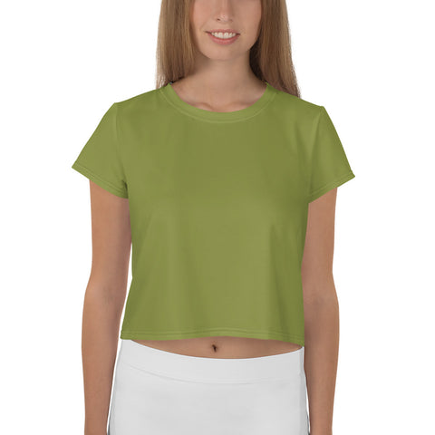 All-Over Print Crop Tee Pepper Green.